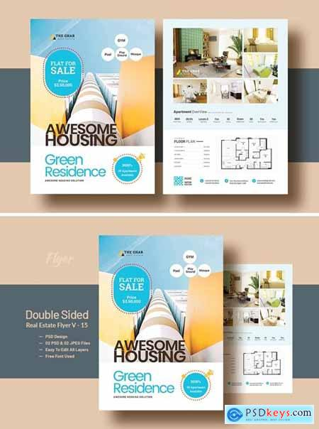 Double Side RealEstate(Apartment Sales) Flyer V-12
