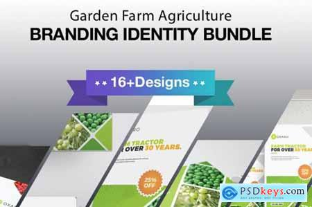 Garden Farm agriculture Identity Stationery