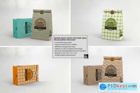 VOL. 16 Food Box Packaging Mockup 3916852