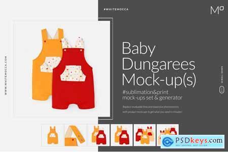 Baby Dungarees Mock-ups Set & Genera