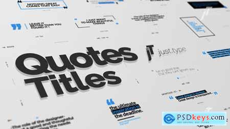 VideoHive Just Type Quote Titles