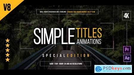 Videohive 45 Simple Titles (Edition Special) v8