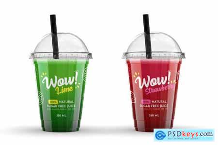 Plastic Juice Cup Mock-Up