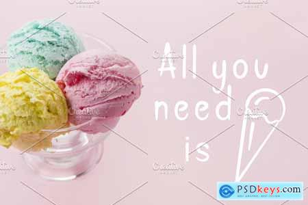 Brush Font and Ice Cream Pack 3921134