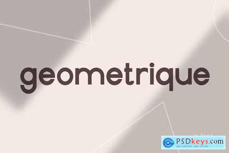 Geometrique Sans Font Family 3920669