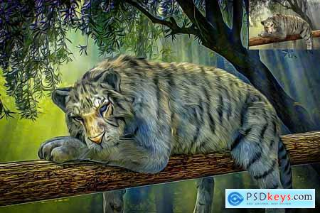 Oil Painting - Photo shop Action 3281143