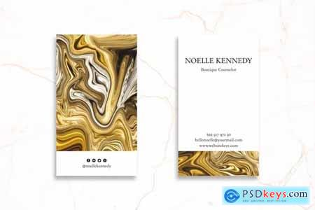 Abstract Business Card Design Professional