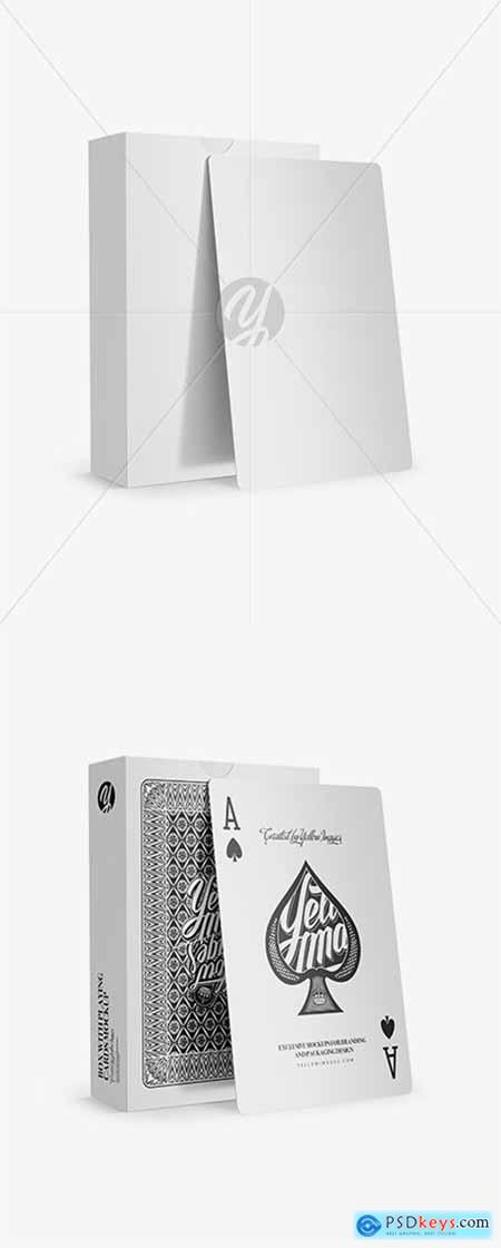 Box with Playing Cards Mockup 26306