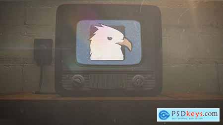 VideoHive Old TV Glitch Logo Reveal