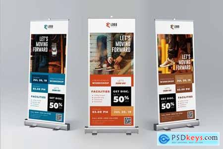 Creative Workshop Roll Up Banner Promotion