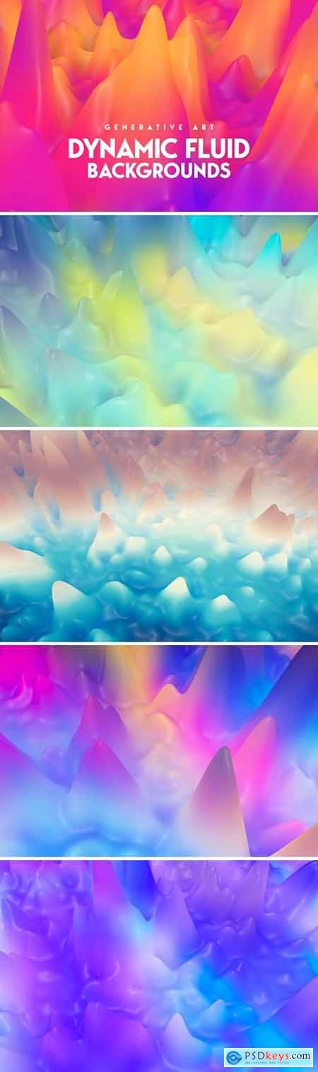 Liquid Splash 3D Backgrounds
