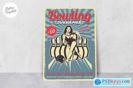 Bowling Tournament Poster Template