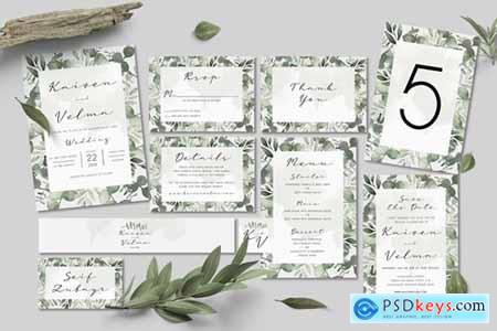 Foliage Wedding Invitation Set
