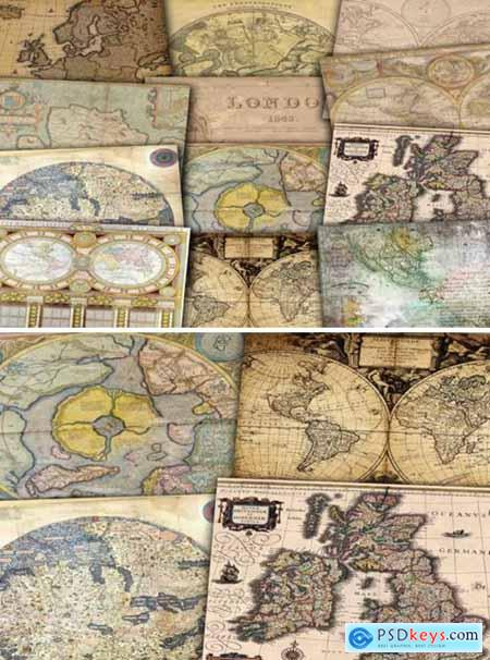 Vintage Digital Maps 1592973