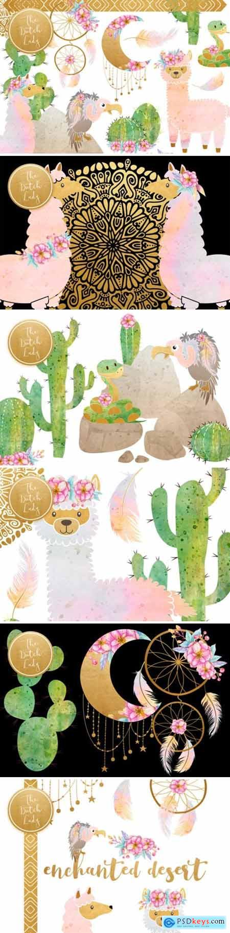 Enchanted Boho Desert Clipart Set 1598419