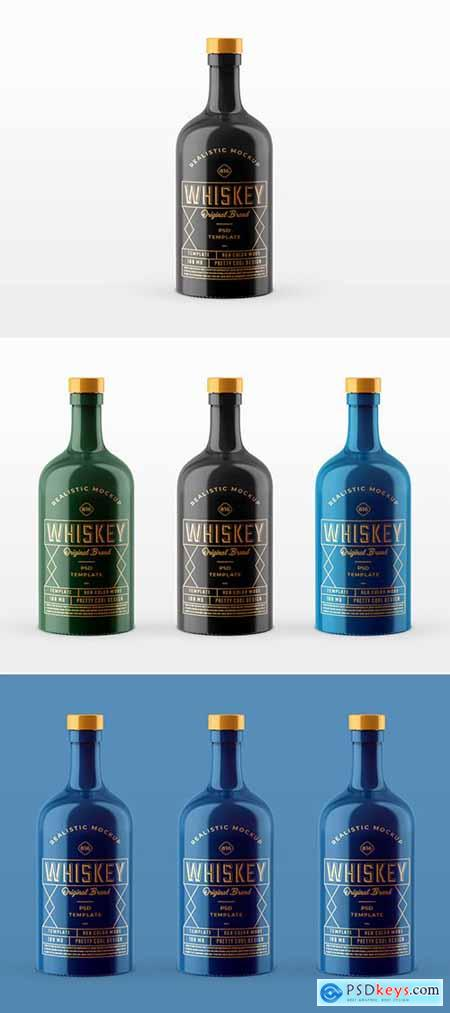 Whiskey Bottle Mockup 252308186