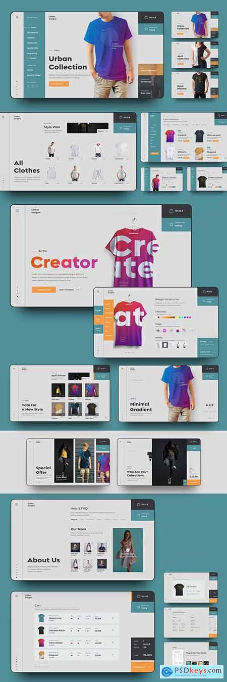 User Interface E-Commerce Website Page Layout Set 277961699