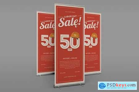 Labor Day Sale Roll Up Banner