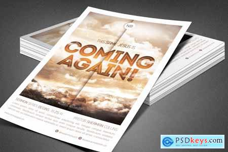 Coming Again Church Flyer Template 3904293