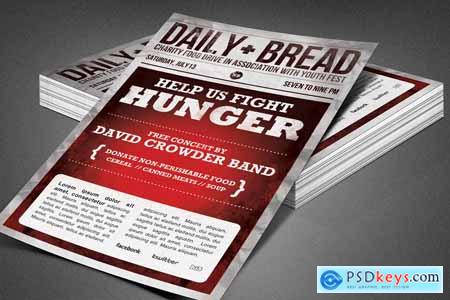 Daily Bread Church Flyer Template 3892258