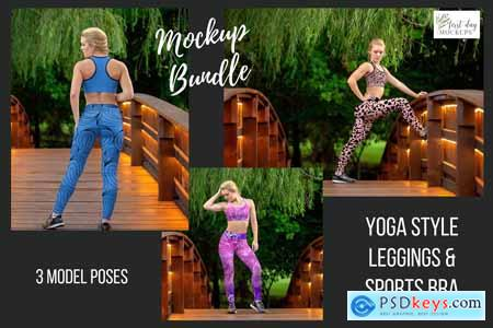 Leggings Sports Bra Mockup Bundle 2 3904294