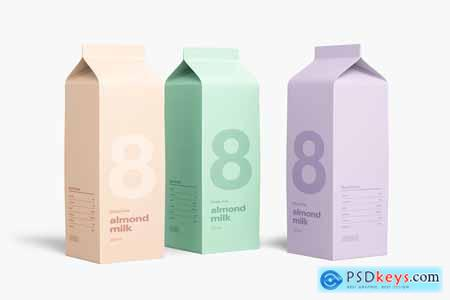 Milk Carton Mockup 3904333