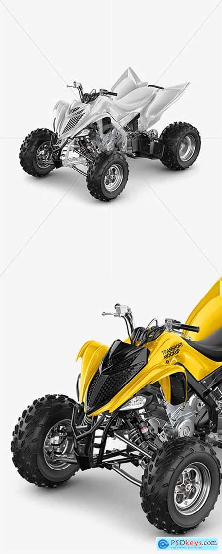 Quad Bike Mockup - Left Half Side View 39323