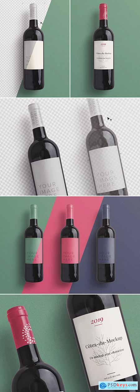 Wine Bottle Mockup 256522770