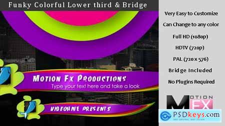 Videohive Funky colorful Lower third & Bridge