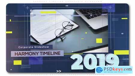 Videohive Harmony Timeline Corporate Slideshow