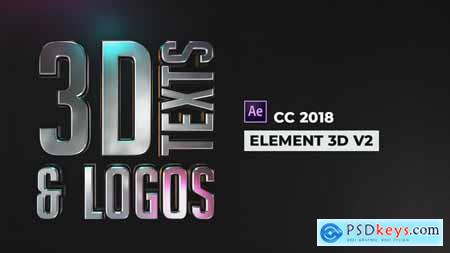 Videohive Stylish 3D Texts and Logos
