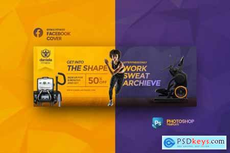 Daniela Fitness Facebook Cover Photoshop Template Free
