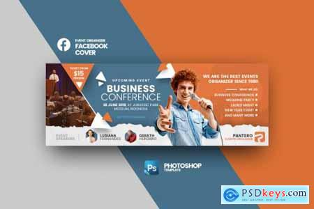 Pantero Events Facebook Cover Photoshop Template Free