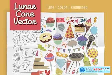 Lunar Cone Vector Pack