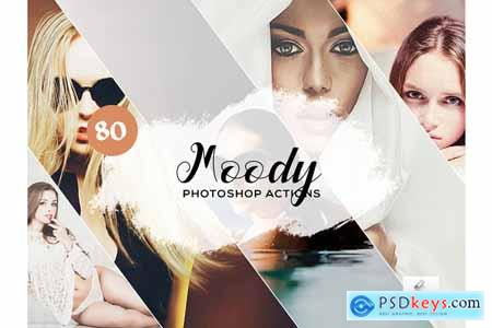 80 Moody Photoshop Actions  3934824