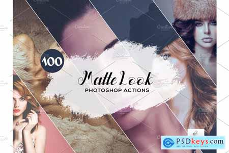 100 Matte Look Photoshop Actions 3934743
