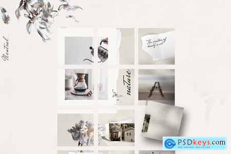 Instagram PUZZLE template - Neutral 3932232