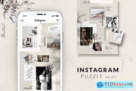 Instagram PUZZLE template - Neutral 3932232