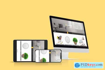 Multi Devices Website Mockup 3935318