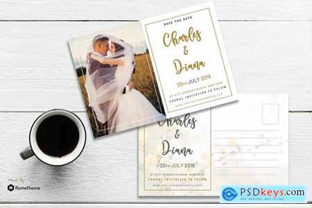 EMBRACE - Wedding Postcard Template