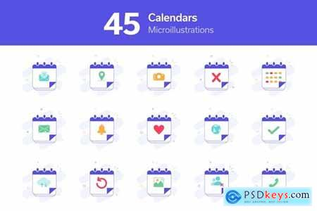 Calendars Micro Illustrations Pack