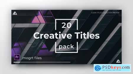 Videohive Minimal Clean Titles For Premiere Pro