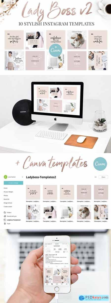 Canva Lady Boss Instagram Templates-2