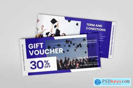 Graduation Photoshoot AI and PSD Gift Voucher