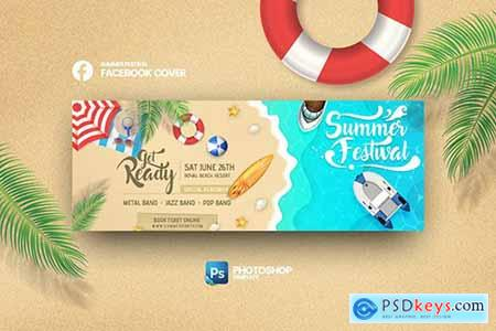 Summer Festival Facebook Cover Photoshop Template