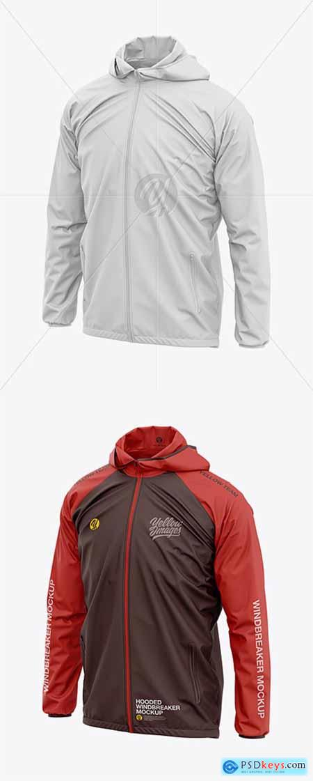 7799c39707 Men's Lightweight Hooded Windbreaker Jacket - Front Half-Side View ...