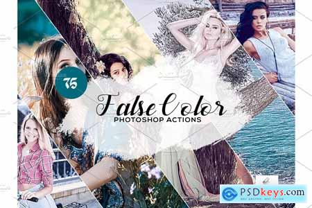 75 False Color Photoshop Actions 3934588