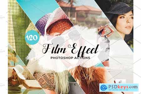 120 Film Effect Photoshop Actions 3934679