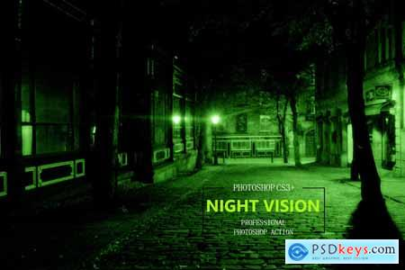 Night Vision Photoshop Action 3740036