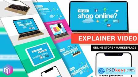 Videohive Explainer Video Online Store, Marketplace, Services